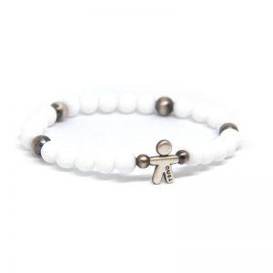 Bracciale elastico Tino Argento bianco