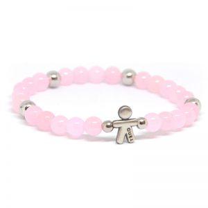 Bracciale elastico Tino Argento rosa