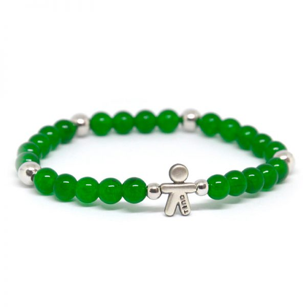 Bracciale elastico Tino Argento verde