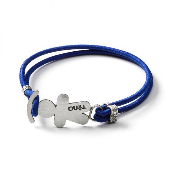 TINO Bracciale elastico blu