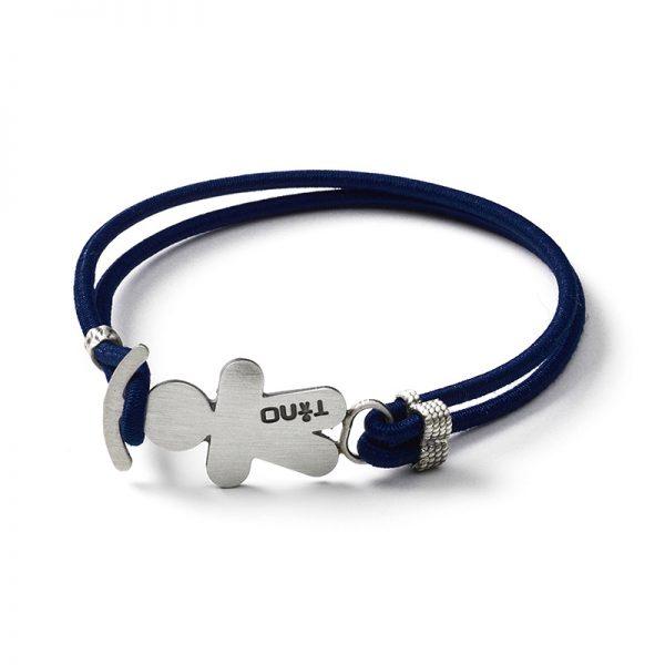 TINO Bracciale elastico blu scuro