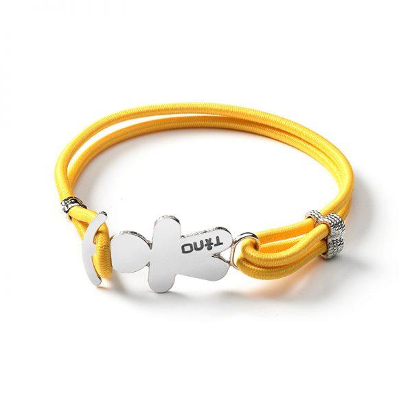 TINO Bracciale elastico giallo