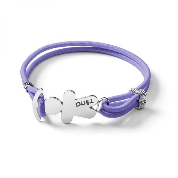 TINO Bracciale elastico lilla