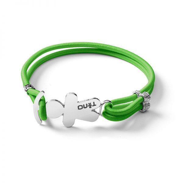 TINO Bracciale elastico verde
